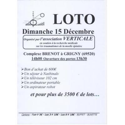 Loto de Noël de l'association VERTICALE
