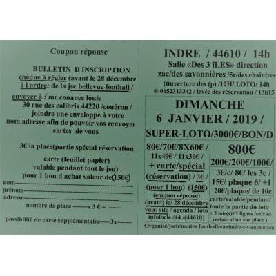 SUPER-LOTO- SPÉCIAL BONS D ACHATS DE 3000€