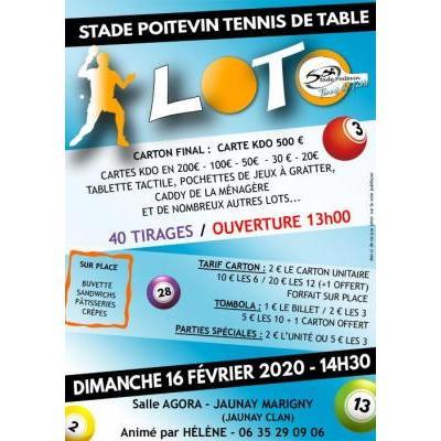 Loto du Stade Poitevin Tennis de Table