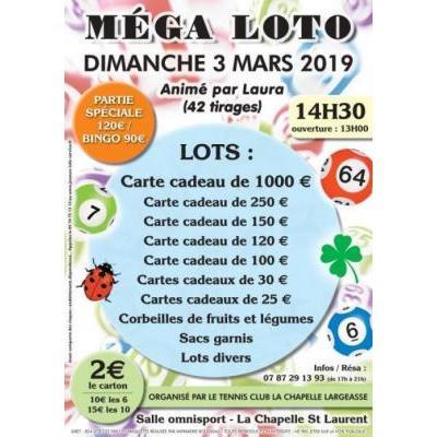 MEGA Loto  Tennis Club de Largeasse