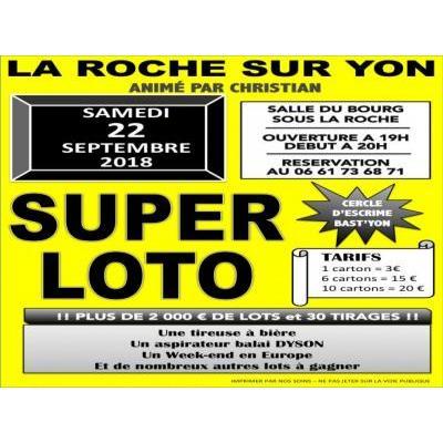 SUPER LOTO 2000euros de lots