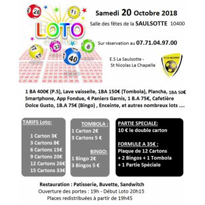 Loto Entente Sportive La Saulsotte - St Nicolas la chapelle