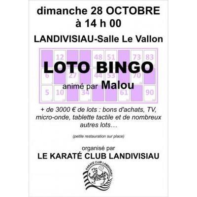Loto bingo 28 octobre 2018 à 14h