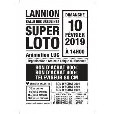 """Super Loto de l""""Amicale Laïque du Rusquet"""