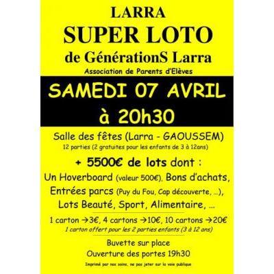 Loto GénérationS Larra (Association Parents d'Elèves)