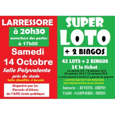 Affiche du loto à Larressore (64) le 14/10/2017