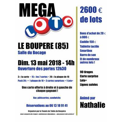 Mega Loto - 2600 euros de lots