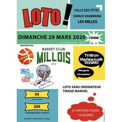 SUPER LOTO DU BC MILLOIS -  DIMANCHE 29 mars 2020