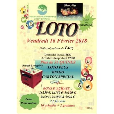 SUPER LOTO DE 35 QUINES minimum.