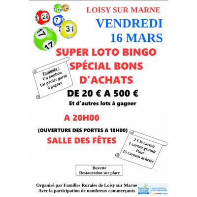 SUPER LOTO BINGO SPÉCIAL BONS D'ACHATS