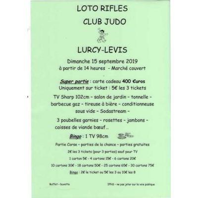 Loto rifles organisé par le club de judo de Lurcy-Levis