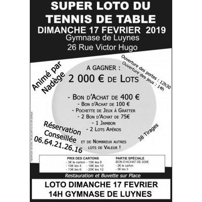 Super Loto Tennis de Table
