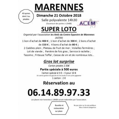 Super Loto du Centre Équestre de Marennes