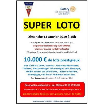 SUPER-LOTO du Rotary Martigues Etang de Berre