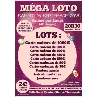 SUPER MEGA Loto Vélo Club Thouarsais
