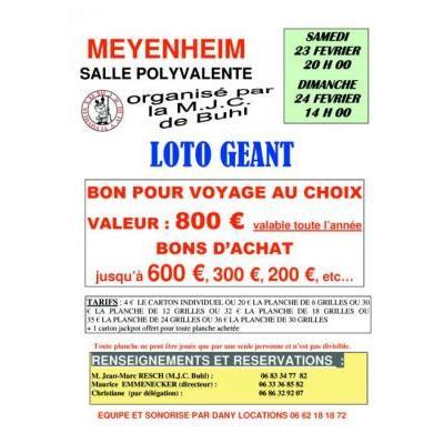 Loto Géant de la M.J.C. Buhl