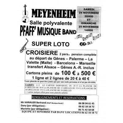 SUPER LOTO du PFAFF MUSIC BAND