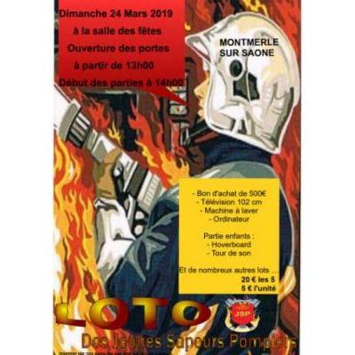 loto des jeunes sapeurs pompiers