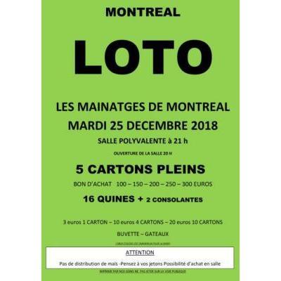 Super loto Des mainatges de Montréal