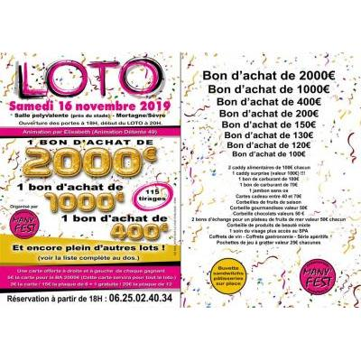 Loto Many'Fest - Bons d'achats 2000e - 1000e...
