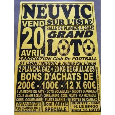 LOTO de l'association sportive neuvic saint leon football
