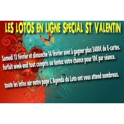 Week end loto en Ligne spécial St Valentin
