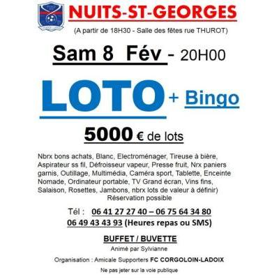 LOTO de Folie Organisé par l'AS Football Club de CORGOLOIN-LADOIX