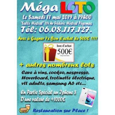Méga Loto avec 7x bon de 500euros à Gagner et autre Nbr lots