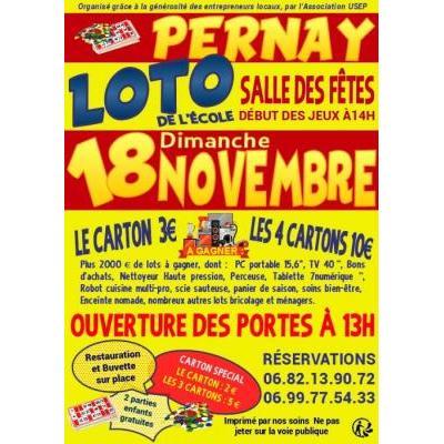 Loto de l'École à Pernay