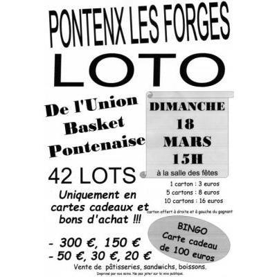 LOTO DE L'UNION BASKET PONTENAISE