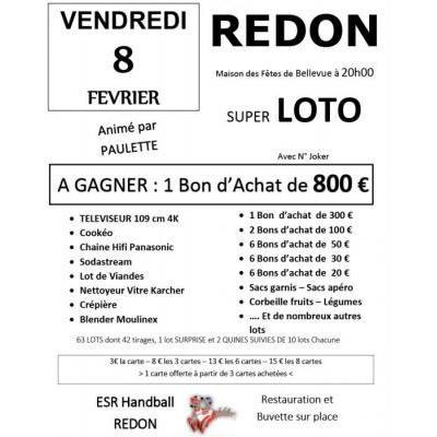 Super loto de l'ES Redon Handball