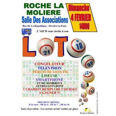 Affiche du loto à Roche La Moliere (42) le 04/02/2018
