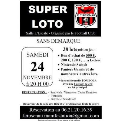 Super Loto sans démarque du FC Rosenau