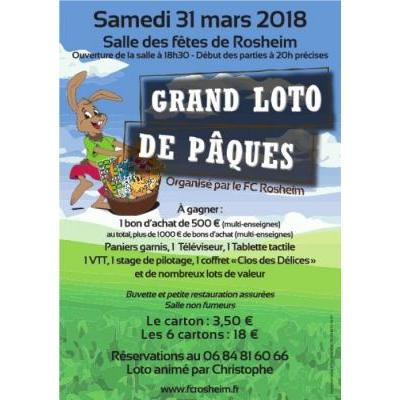 Grand Loto de Pâques organisé par le FC ROSHEIM
