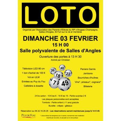 Loto de l'APE du RPI angeac-Champagne, Salles d'Angles, St Fort et Verrières