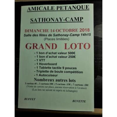 Grand loto de l'amicale pétanque Satonay-Camp
