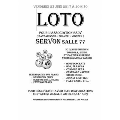Affiche du loto à Servon (77) le 23/06/2017