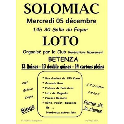 loto organisé par le club des Aînés.