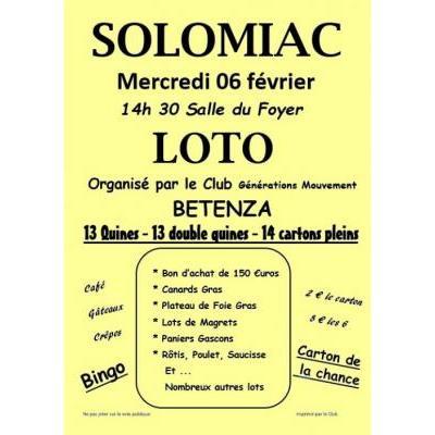 loto organisé par le club des Aînés Générations Mouvement