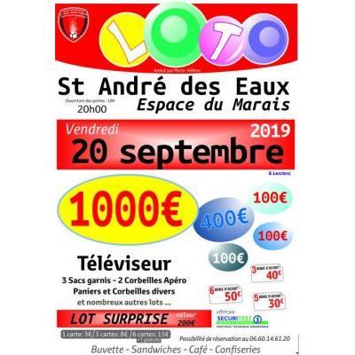 loto spécial bons d'achat LA SAINT ANDRE FOOTBALL