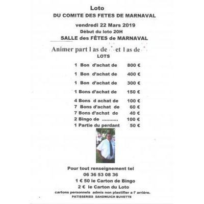 SUPER LOTO DU COMITE DES FETE DE MARNAVAL
