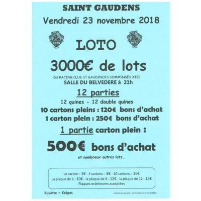 Loto 3000€ de lots