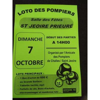 Loto des Pompiers Amicale Challes/St Jeoire