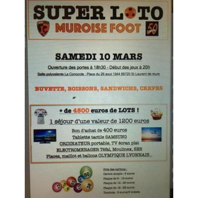 SUPER LOTO Muroise Foot (voyage 1200 euros)