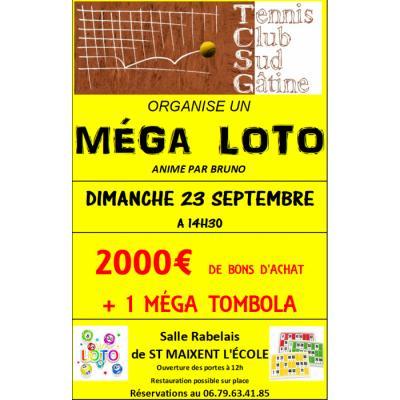 MEGA LOTO du Tennis Club Sud Gâtine