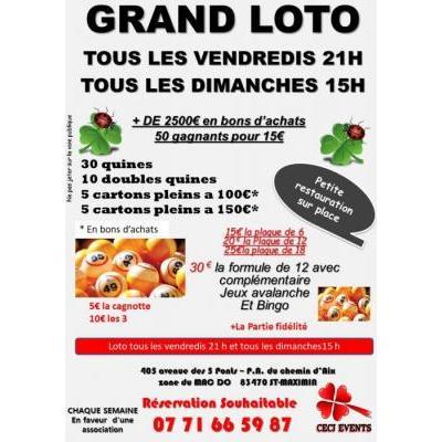 Loto 83 var toutes les dates annuaire des lotos for Loto dans 01