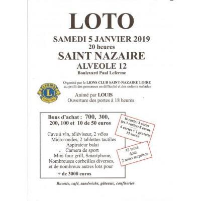 SUPER LOTO du Lions Club animé par LOUIS