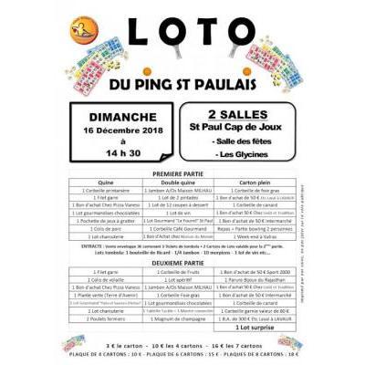 Loto du Ping Saint Paulais
