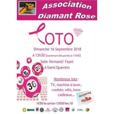 Loto diamant rose