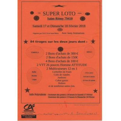 Super loto le 17 et 18 février